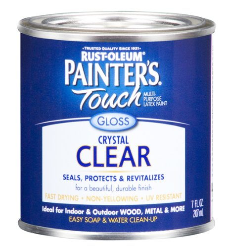 Rust-Oleum 242058 Painters Touch 1/2 Pint Latex, Gloss Clear - Gloss Clear Paint