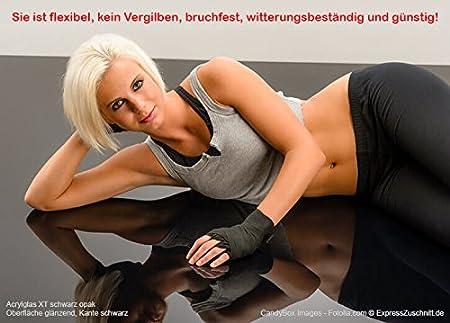 edle schwarze Optik f/ür K/üchenr/ückw/ände Treppengel/änder PLEXIGLAS/® kratzfest schwarz gedeckt 9N870 St/ärke 3 mm Trennew/ände; Ma/ße: 50 x 50 cm