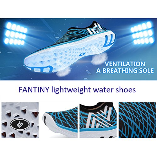 Women and Shoes on Men Sneakers FANTINY Barefoot Blue Slip dry for Lightweight Water Quick Walking zqq1T