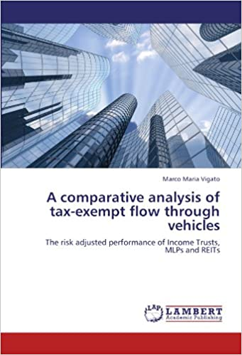 A comparative analysis of tax-exempt flow through vehicles: The risk adjusted performance of Income Trusts, MLPs and REITs