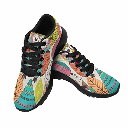 Modello Di Interesse Con Gufi Tribali Scarpe Da Jogging Da Corsa Da Donna Leggere Scarpe Da Passeggio Multi 1