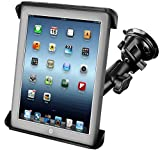 RAM-B-166-TAB3U: RAM Suction Cup Twist Lock Mount with Tab-Tite Cradle for the Apple iPad, iPad 2, HP TouchPad