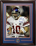 Eli Manning Autographed Signed 16x20 Photo Ins Sb Xlii Mvp Framed Giants Coin Auto Steiner