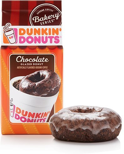 Dunkin Donuts Ground Coffee. (Pack of 3) (Chocolate Glazed Donut)