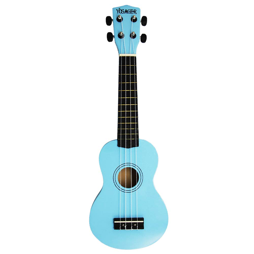 yosager 21 Inch Wooden Ukulele Toy for Kids Musical Instrument Musical Toys (Blue)