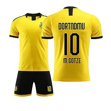 HEIPIYAYAYAYA Jersey de fútbol Dortmund Jersey 10# Mario ...