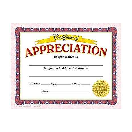Amazon trend enterprises certificate of appreciation t trend enterprises certificate of appreciation t 11302 yadclub Images
