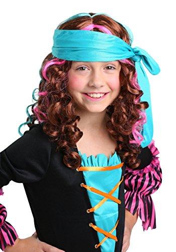 FunCostumes Girl's Pirate Princess Wig (Corpse Countess Girls Costumes)