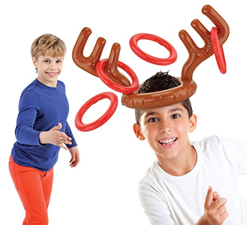 KOVOT Two Player Inflatable Reindeer Ring