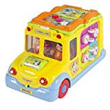 NEW Toy Educational Musical Yellow School Bus Bump'n'Go, Headlights, Music and Games