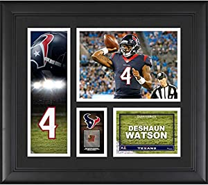 "Deshaun Watson Houston Texans Framed 15"" x 17"" Player Collage with a Piece of Game-Used Football - Fanatics Authentic Certified"
