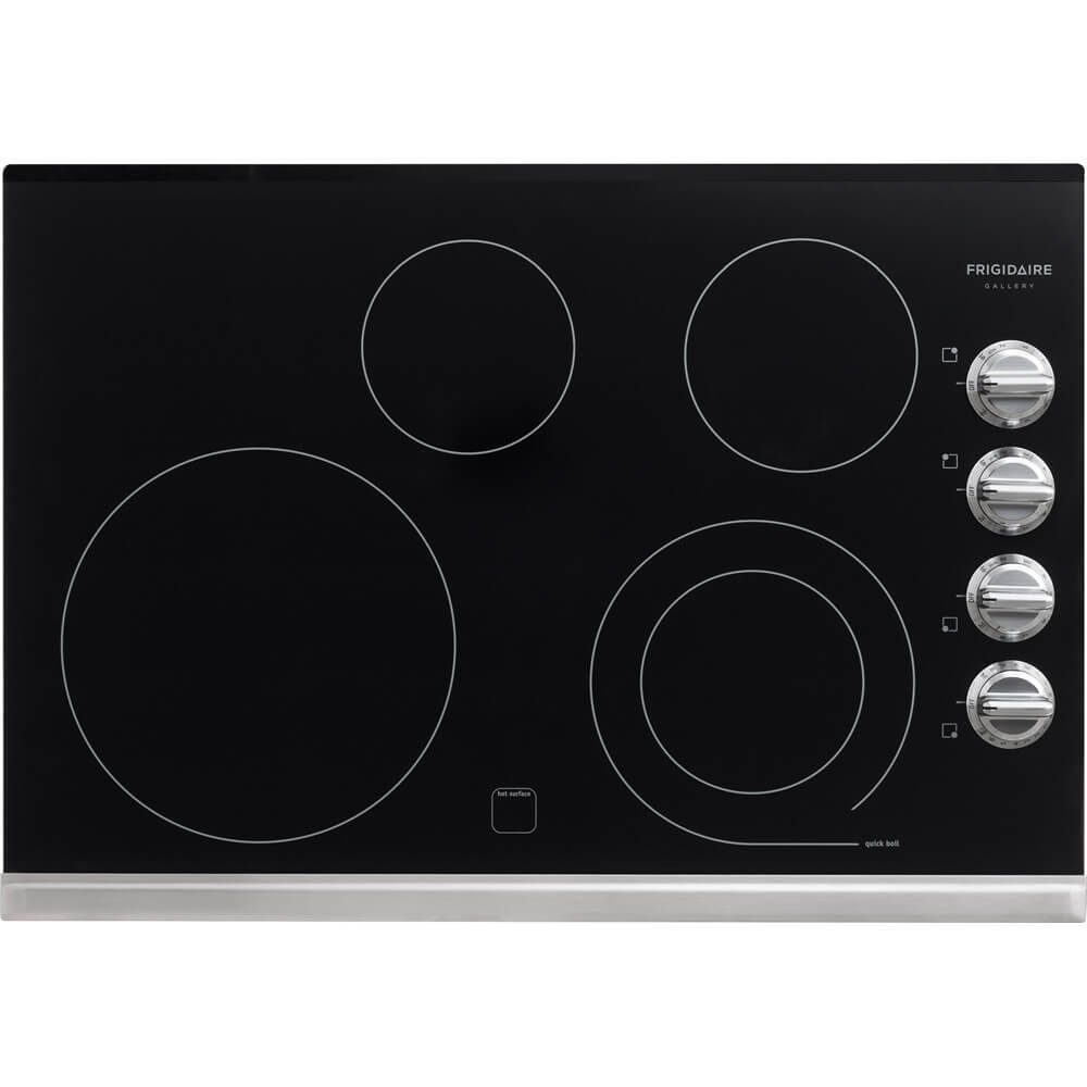 """Frigidaire Gallery 30"""" Electric Smoothtop Cooktop with Stainless Steel FGEC3045PS"""