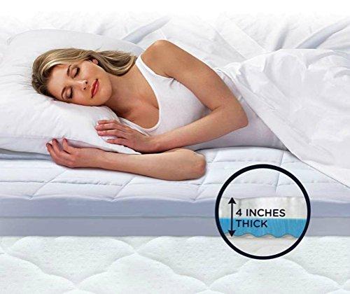 Serta Rest - King - 4 Inch - Cushioned Plush Gel Memory Foam