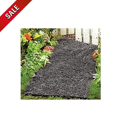Rubber Mulch Pathway Permanent Outdoor Landscape Edging Garden Black Decorative & eBook by AllTim3Shopping