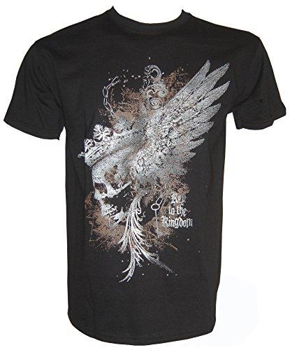 Gothik Skull Fantasy T-Shirt in Größe S - 5XL