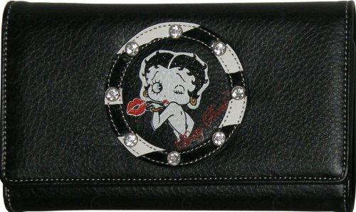 Betty Boop Designer Wallet New Women Black Wallet with a Zebra Print - AZBQ1010