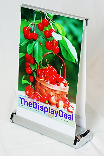 ThedisplayDeal Tabletop Double Sided Retractable Banner Stand (8.5