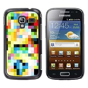 TECHCASE**Cubierta de la caja de protección la piel dura para el ** Samsung Galaxy Ace 2 I8160 Ace II X S7560M ** Pattern Old Tv Colorful Squares Wallpaper