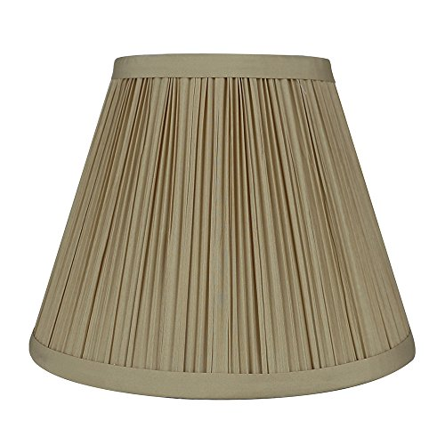 Urbanest Mushroom Pleated Softback Lamp Shade, Faux Silk, 5-
