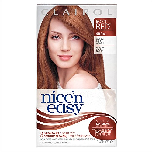 Clairol Nice 'n Easy Hair Color 110/6R Light Auburn 1 Kit (Pack of 3) (PACKAGING MAY VARY) (Red Hair Color Highlights)