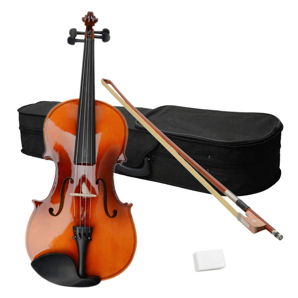 Swanluck 16-Inch Professional Acoustic Viola + Case + Bow + Rosin for Beginners Student, Viola Starter Kit