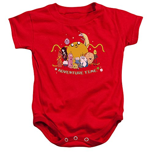 Adventure Time - Outstretched Baby Onesie 12M Red]()