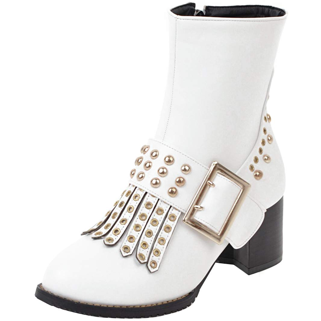 Mavirs Womens Marisk Block Heel Ankle-high Boots 5.5 cm Boots Ankle-high B07GLBXKTM Boots 07e2da