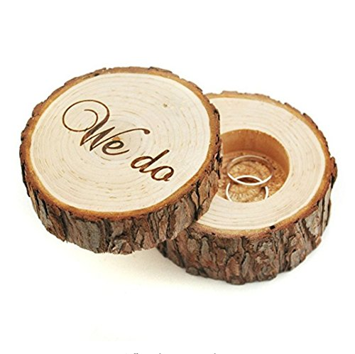 SeaISee wedding ring box , wedding ring bearer , wedding box for rings , Rustic Ring Box