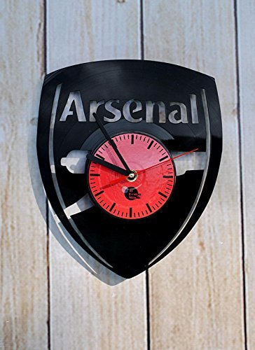 Fun Door Arsenal Team Soccer Football Handmade Vinyl Record Wall Clock for Birthday Wedding Anniversary Valentine's Mother's Ideas for Men and Women him and her