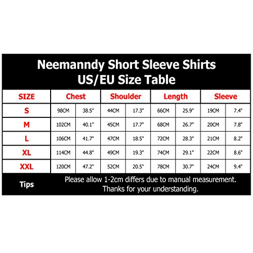 Neemanndy 3D Graphic Colorful T-Shirts Short Sleeve Crew Neck Print Tee for Men Women and Youngs