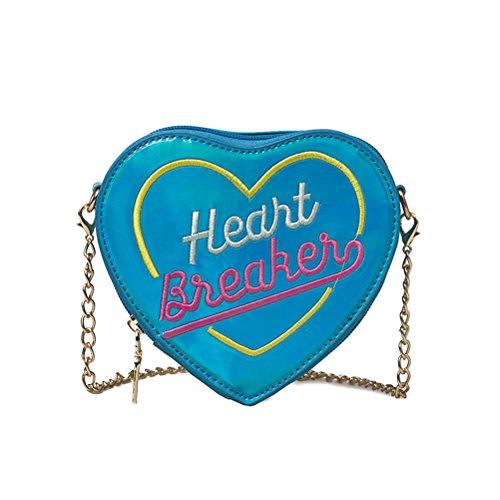 Bolso Bolso Bolso Bolso Mano Monedero Las La Crossbody Del Bolsa Del Del De Del De De De azul Niñas Corazón Forma 5I4aBq