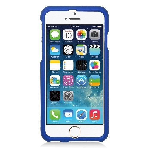 iPhone 6/6s Case, Eagle Cell Rubberized Hard Snap-in Case Cover for Apple iPhone 6/6s, Blue