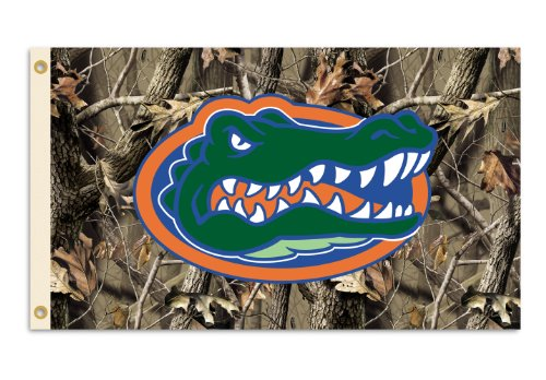 NCAA Florida Gators 3-by-5 Foot Flag with Grommets - Realtree Camo - Premier Florida Outlets