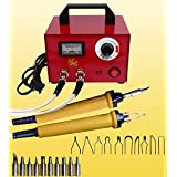 100W Multifunction Wood Burning Tool Pyrography Machine 20Pcs Pyrography Nib Portable Pyrography Machine Dual Pen Wood Pyrography Crafts Kit (110V)
