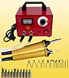 100W 110V Multifunction Wood Burning Tool Pyrography Machine Portable - 20Pcs Wire Dual Pen Wood Pyrography Crafts Kit