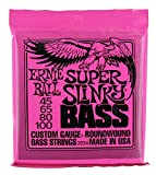 Ernie Ball 2834 Super Slinky 4-String Electric Bass Guitar Strings