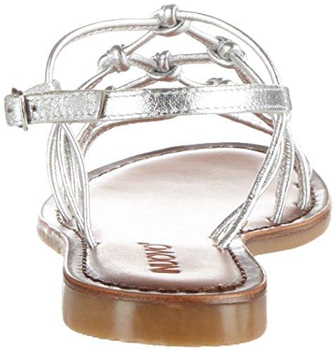 alla 16778935 7213 Argento Silver Inuovo Schiava Sandali Donna BTBxg0