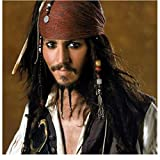 Johnny Depp 8 inch x 10 inch PHOTOGRAPH Pirates of the Caribbean: Dead Man's Chest (2006) Sexy Wearing Red Bandana Pose 1 kn