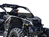 SuperATV Heavy Duty Half Windshield for Can-Am Maverick X3 900 / Turbo/X RS/X DS/X MR/MAX (2017+) - Dark Tinted Standard Polycarbonate