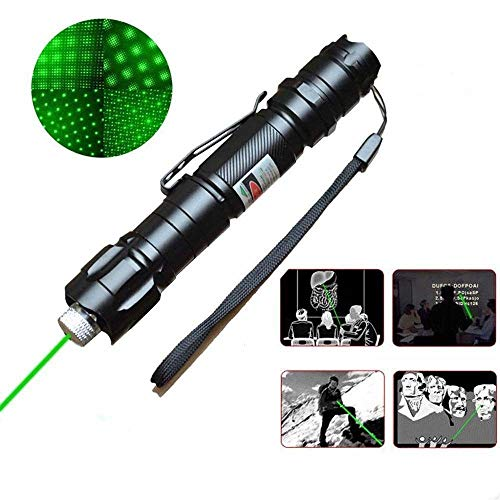 Green Star Projector Laser (SALM Tactical Green Hunting Rifle Scope Sight Laser Pen, Pen Pointer Projector Travel Outdoor Flashlight, LED Interactive Baton Funny Laser Toy with Star Cap)