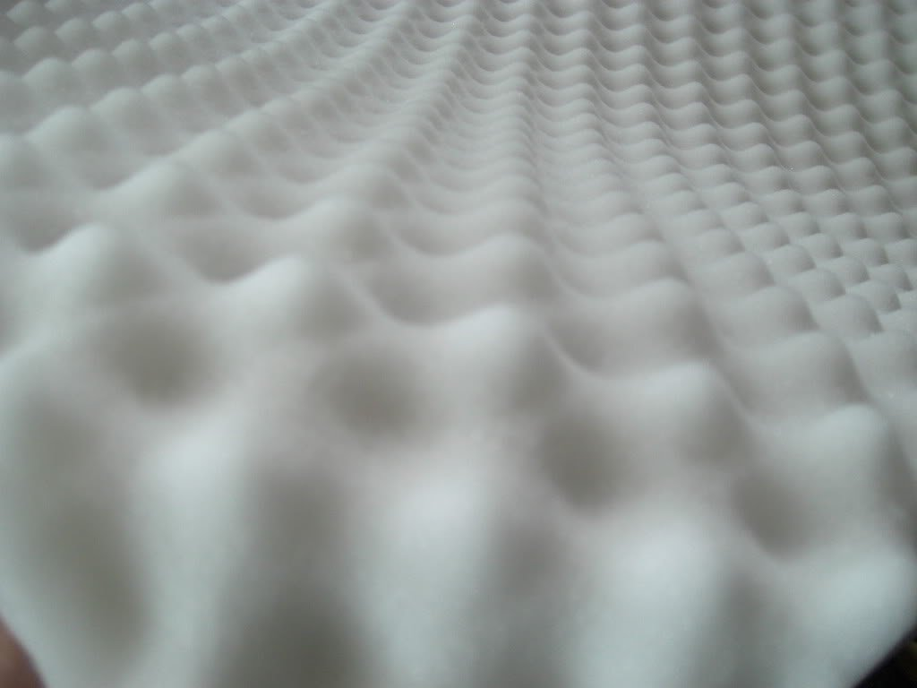 Akustikschaumstoff, Noppenschaumstoff, Dämmung Schalldämmung schallisolierend Salz Registrierung Computer, Koffern-Musikinstrumente, für Gegenstände,Panel Dichte '30 m³ 100x50x5cm Weiß lulushop