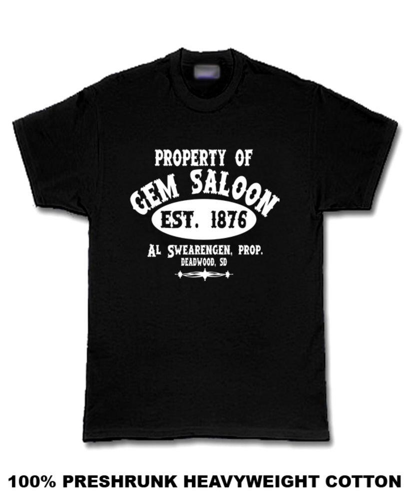 Amazon Property Of Gem Saloon Deadwood Al Swearengen T Shirt