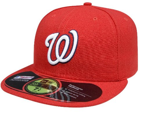 - New Era MLB Washington Nationals Game AC On Field 59Fifty Fitted Cap-734