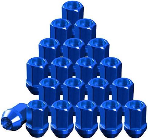 品番+RN24 レーシングナット ホイールナット ブルー M12×P1.25 貫通型ショート 6穴用 24本 アルミ 日産 スバル スズキ