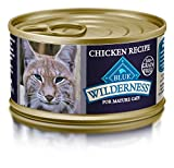 Blue Wilderness Mature Grain Free Chicken Pate Wet Cat Food 3-Oz (Pack Of 24) For Sale
