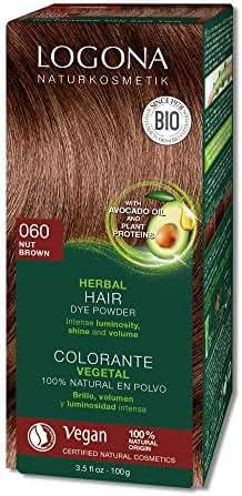 Logona Herbal Hair Dye Nut Brown Natural Vegan Plant Based 3.5 Ounce