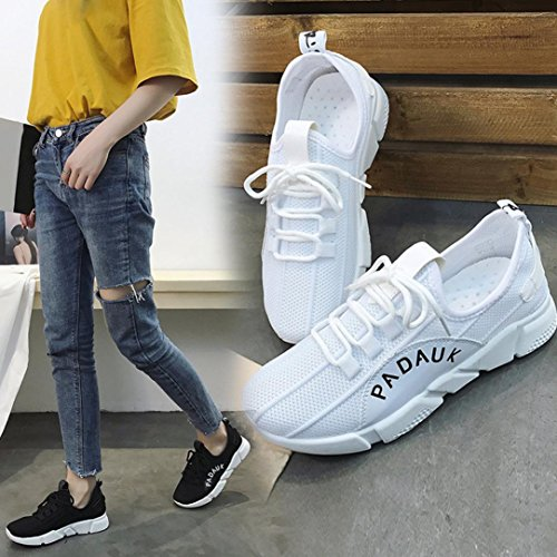 Shoes Running White Stretch Byste Gym Color Shoes Solid Women Tied Cross Casual Shoes Fabric fw71zOxw