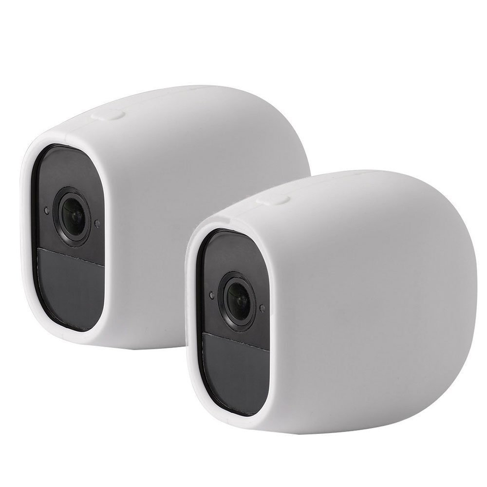 EEEKit Silicone Skins Protective Cover Case for Arlo Pro/Arlo Pro 2 Netgear Home Smart Security Wireless Camera (2-pack White)