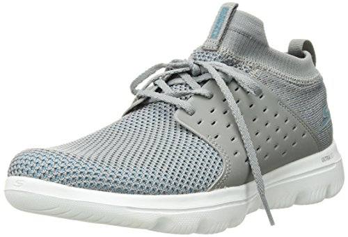 Skechers Performance Women's Go Walk Evolution Ultra-Turbo Sneaker,Gray/Blue,8.5 M US by Skechers