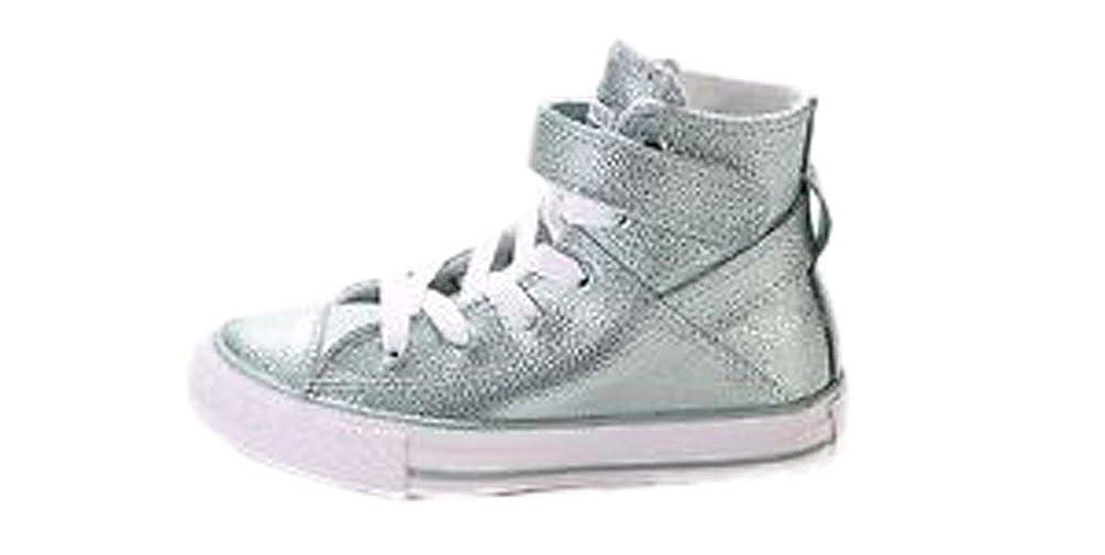 super popular e843f c2513 Amazon.com   Converse Chuck Taylor All Star Brea Hi Metallic Glacier  (Little Kid)   Sneakers